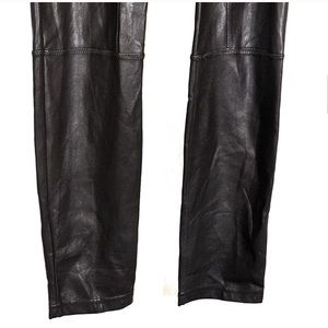 Wilfred Pants - Aritzia Wilfred Dark Brown Faux Leather Leggings